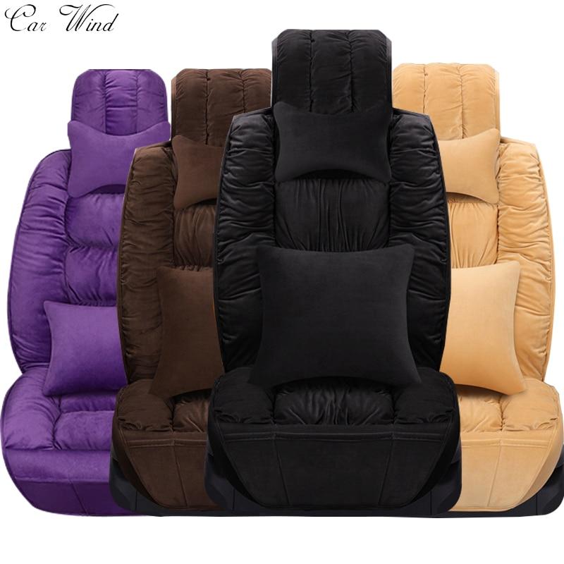 car wind flocking cloth plush universal car seat cover for lada granta fiat palio mazda 626 rx. Black Bedroom Furniture Sets. Home Design Ideas