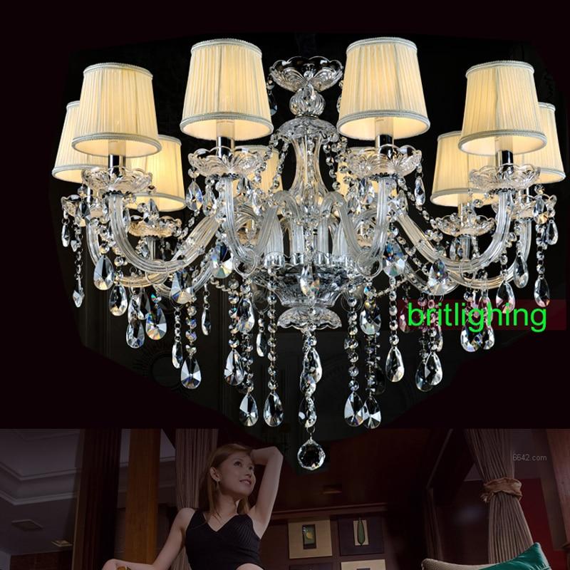 modern crystal chandelier fabric shades Vintage chandeliers Murano Venetian Style lights led modern glass chandelier lighting