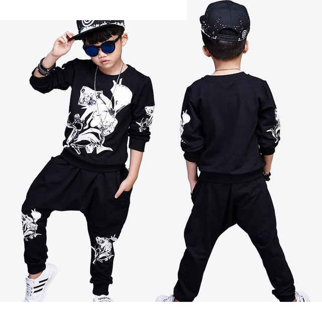 be30f534851fd printed 2017 children kids teenage boys clothing sets big boys outfits  clothes tracksuits suits 2 pcs t shirts + long pants