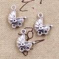 8pcs Charms 3D baby carriage buggy pram 16*13mm Antique Making pendant fit,Vintage Tibetan Silver,DIY bracelet necklace