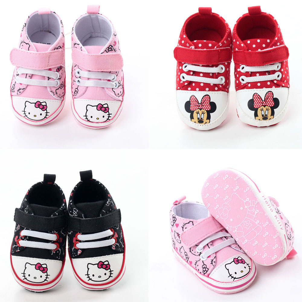 Hello kitty crib for sale - 2017 Spring New Baby Girls Hello Kitty Shoes Infant Baby First Walkers Girls Crib Shoes Canvas