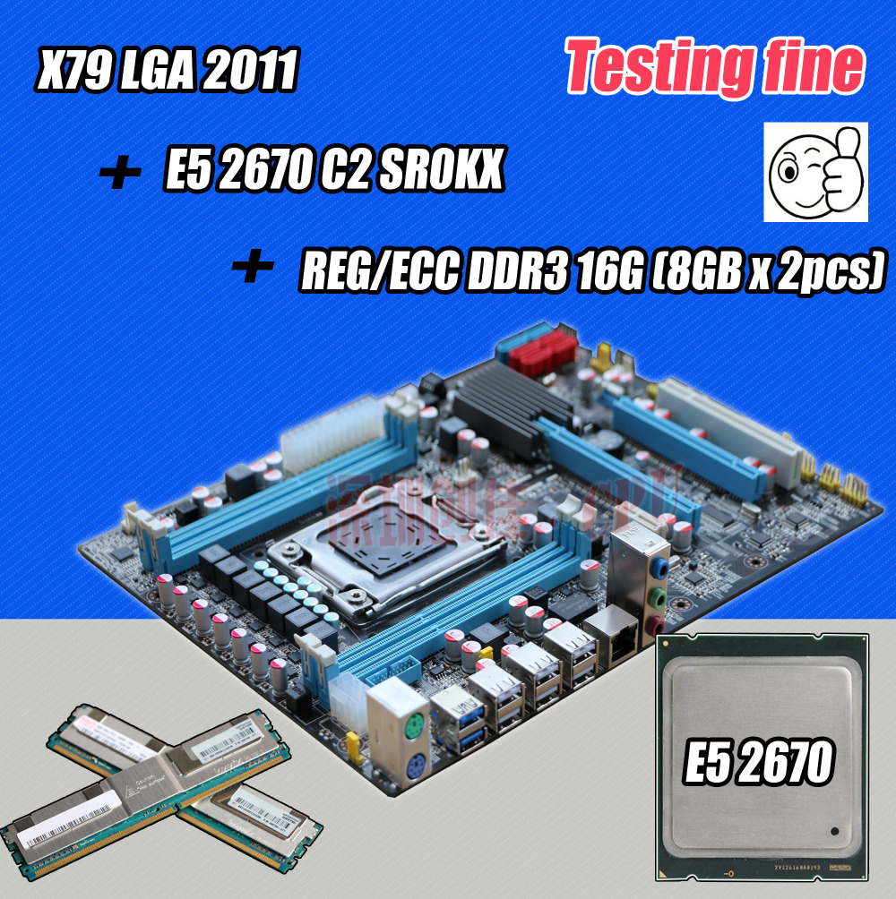 Original intel x79 lga 2011 motherboard cpu xeon e5 for 2670 5