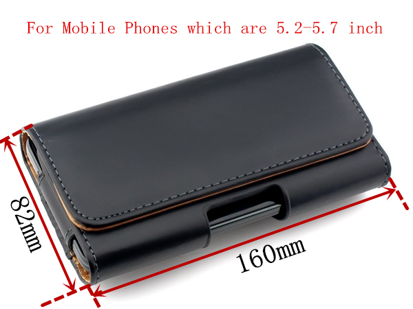 """HATOLY Genuine Leather Case For iPhone 6 Plus Belt Clip Holster For 5.2\""""-5.7\"""" Mobile Phone Pouch Cover For iPhone 6 Plus <"""