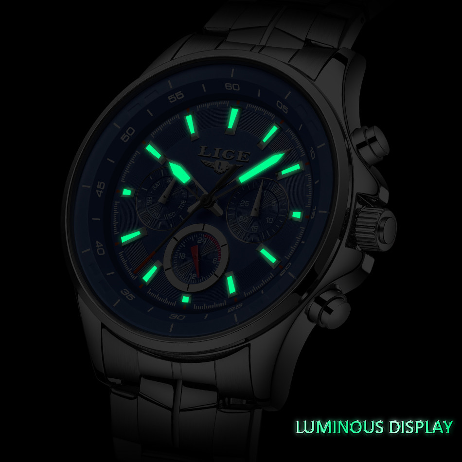 LIGE Mens Watches Waterproof Top Brand Luxury Quartz Watch Men Sport Watch Fashion Casual Military Clock Male Relogio Masculino 9