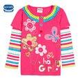 Nova roupa do bebê meninas camiseta de mangas compridas crianças moda t camisas de algodão do bebê meninas camisetas para nova crianças meninas crianças encabeça