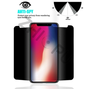Image 3 - 10 pcs/lot Top Quality 2.5D Arc Edge Privacy Tempered Glass For Apple iPhone X Screen Protector Film Guard Cover Shield
