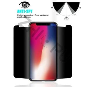 Image 3 - Protector de pantalla para iPhone X de Apple, cristal templado de máxima calidad, 2,5d, borde de arco, privacidad, 10 unidades por lote