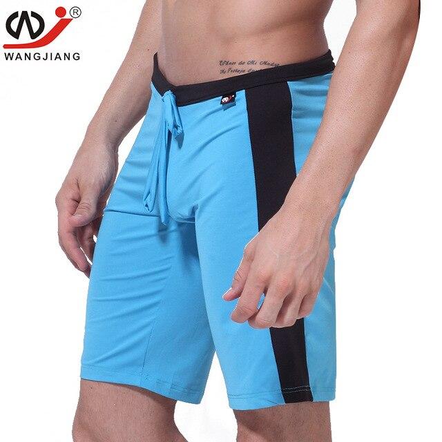 Frete grátis wj capris altura do joelho-comprimento shorts elastic leite  silk dos homens shorts bcabbd7fb88c2