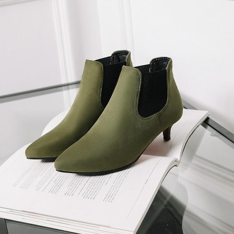 Grande taille 9 10 17 bottes femmes chaussures bottines pour femmes dames bottes coniques et solides