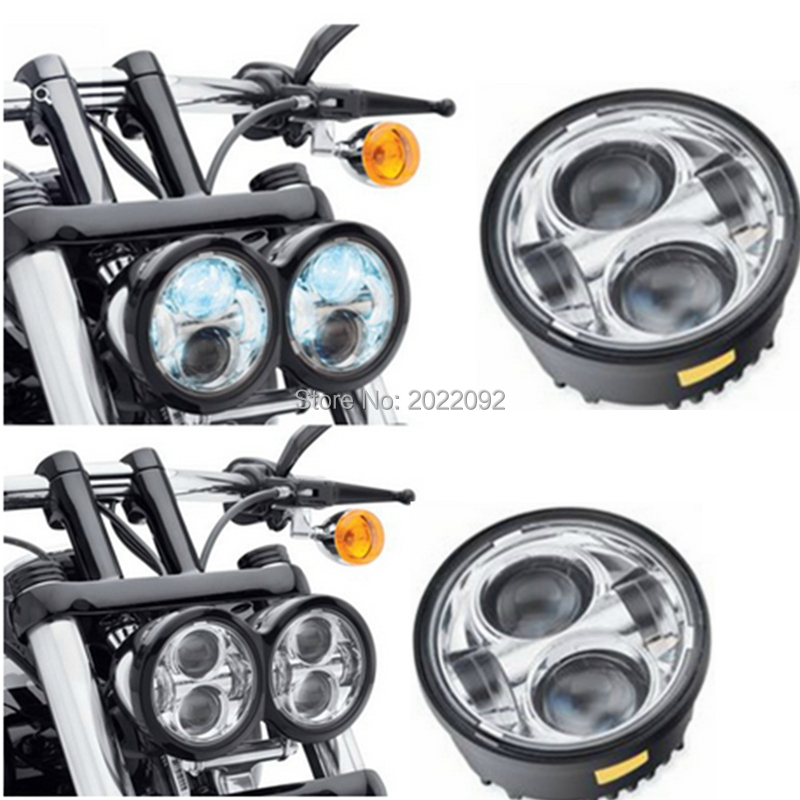 Harley 5 led headlight Daymaker LED Headlamps Fat Bob Head Light for Fat Bob Headlight