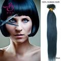 18 pulgadas-45 cm queratina extremidad del clavo del pelo en forma de U de Remy de la extensión del pelo 0.5g # color azul 100 piezas 50g pelo virginal del pelo Humano