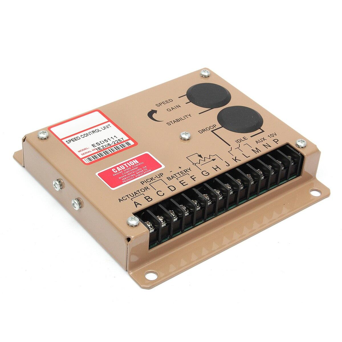 Contrôleur électronique d'unité de régulateur de vitesse de moteur pour pièces de groupe électrogène Diesel ESD5111 Instructions en anglais - 3