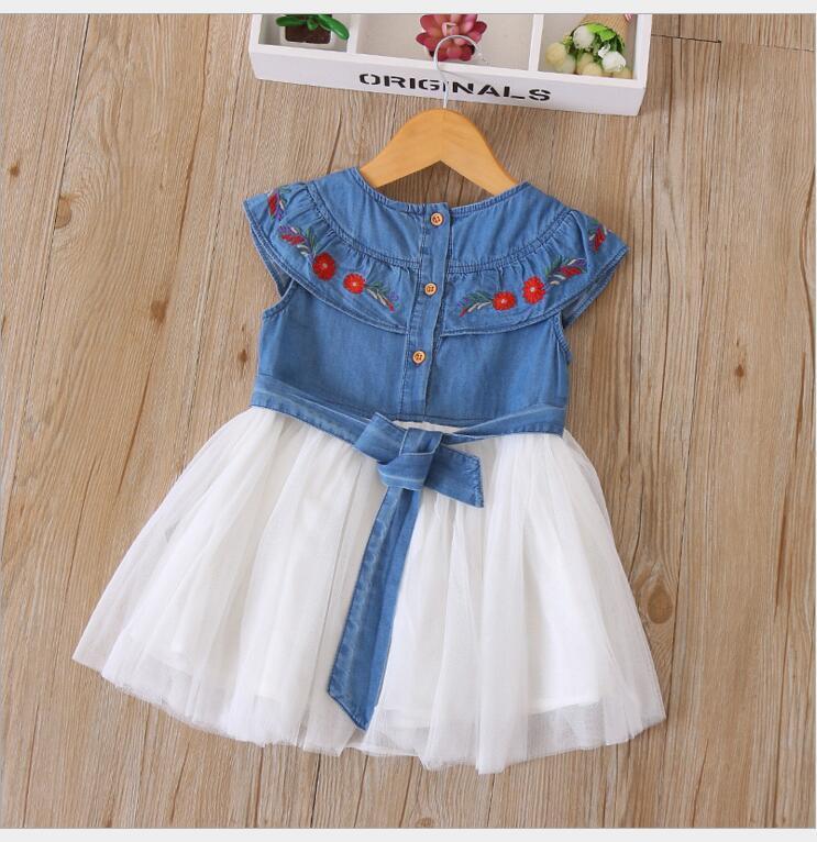 d89588a25f Girls Denim dress baby girl tulle dress Toddler princess dress costume for  children vetement enfant fille 5pcs lot -in Dresses from Mother   Kids on  ...