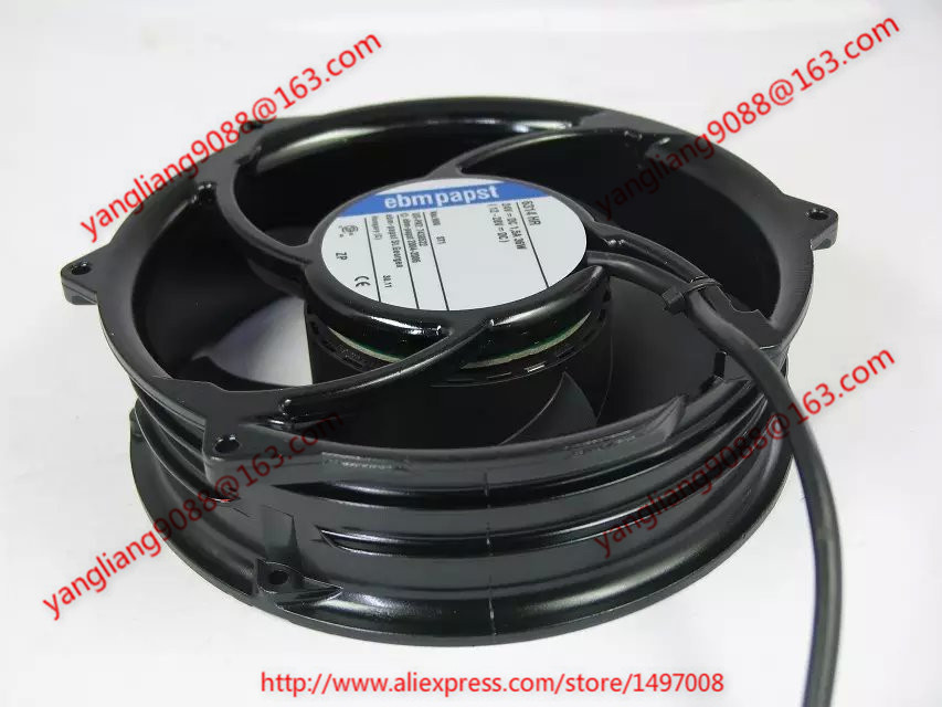 ebmpapst  6314 HR 6314HR DC 24V 1.5A 36W 2-wire 172x172x51mm Server Round Fan