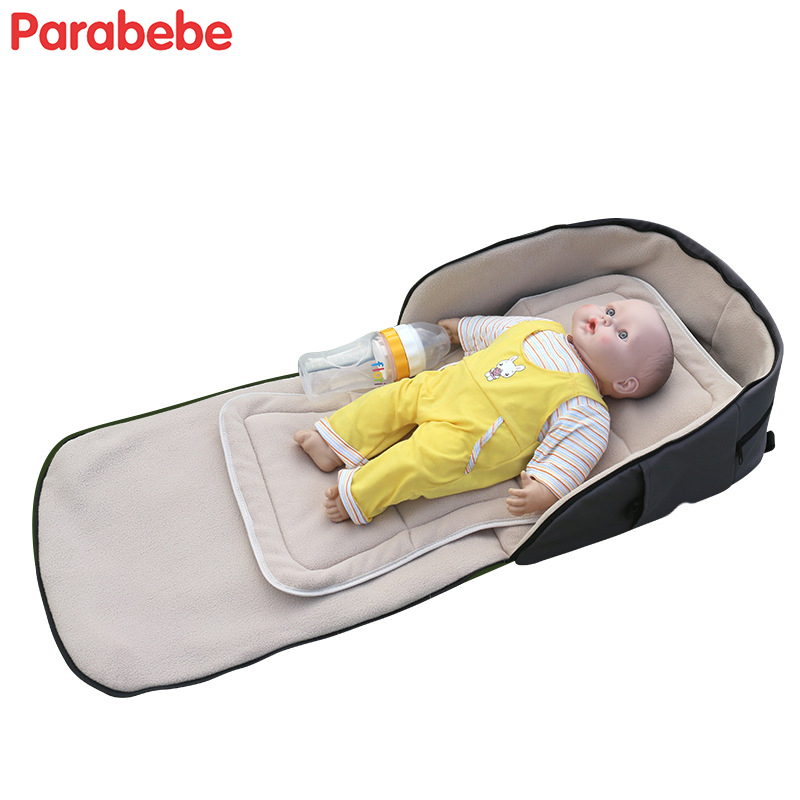 2 in 1 baby travel bed polar fleece portable foldable crib newborn infant GO TO TRAVEL Baby Sleeper Mini Travel Bed Bassinet bag
