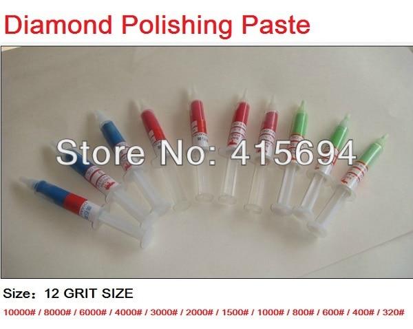 10vnt. / Rinkinys Šlifavimo pasta deimantinė pasta, skirta poliruoti vašką metaliniams veidrodiniams poliruojamiems švirkštams.