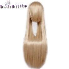 С-noilite 80 см 32 дюйм(ов) длинные женские парик жаропрочных Красный, розовый и фиолетовый цвет черный светлые прямые Косплей парики синтетические парики