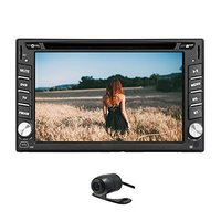 FREE Rear Camera Built In Bluetooth FM AM RDS USB SD TV Ipod In Dash Car