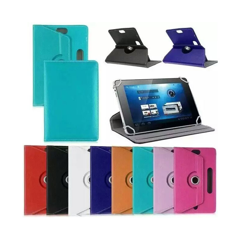 360 Degree Rotating 3 Camera Holes for Google Nexus 7 1st (2012) 7 Inch Tablet Universal PU Leather Cover Case