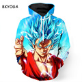 BKYOGA Colorful Supermen Cartoon 3D painting sweatshirt hoodies long sleeve Suit Hoodie Outside Unisex Sudaderas