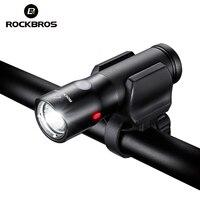 ROCKBROS Bicycle Light Set Power Bank Waterproof Bike Light Rechargeable USB Mtb Bicycle Flashlight Led Warning