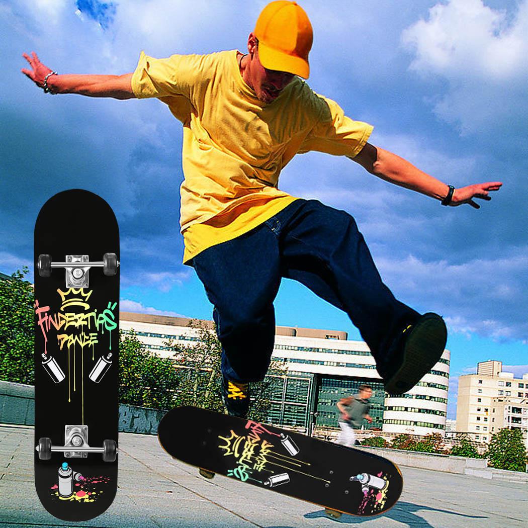 Prix pour 2017 Nouvelle Longue skate board 30 pouce Adulte Enfants en bois Maple Longboard Skate board Cruiser Planche À Roulettes avec 4 Roues longboard 22