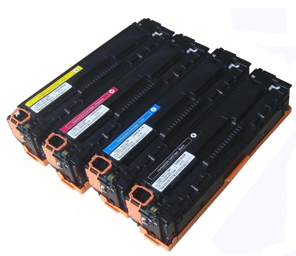 ФОТО Compatible CE320A CE321A CE322A CE323A Color Toner Cartridges for LaserJet CP1525/CM1415 Cartuchos de Toner