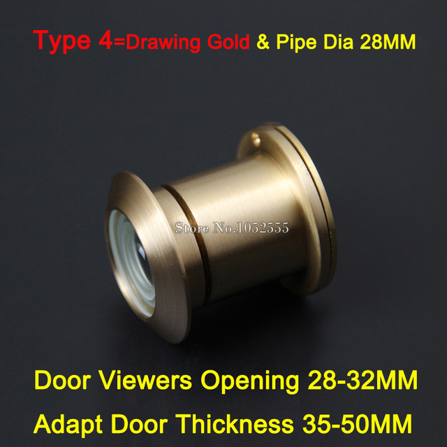 NEW 5PCS Brass 260 Degree Wide Angle Peephole Door Viewer Door Spyphole  Viewer Security Anti