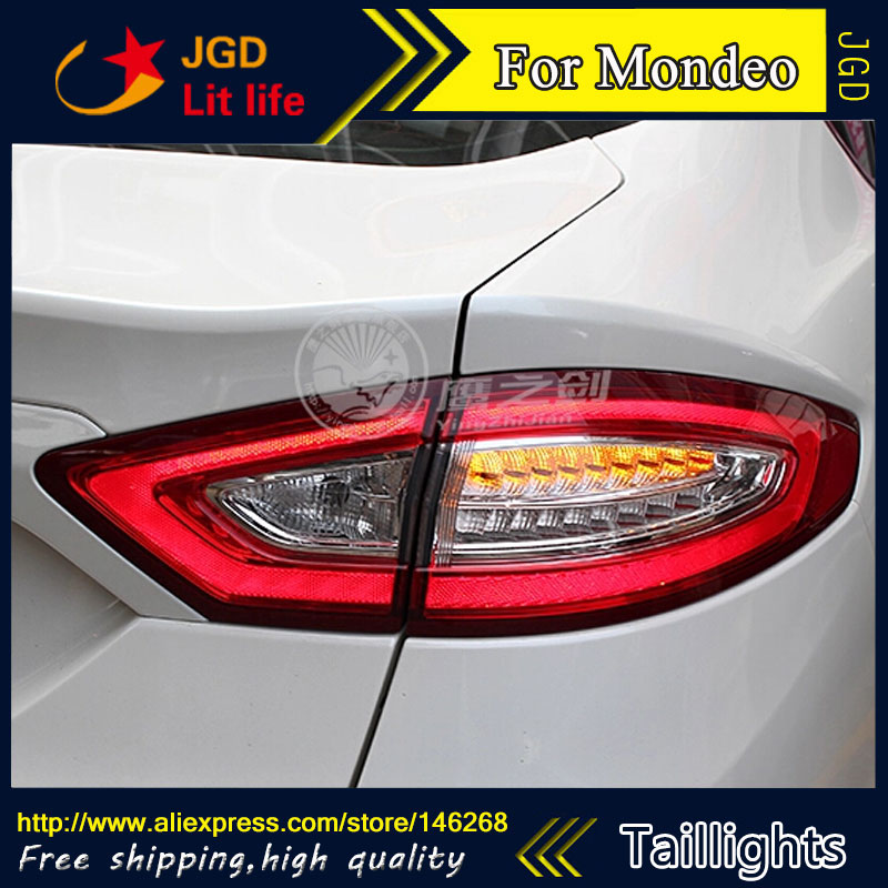 Car Styling tail lights for Ford Mondeo 2013 LED Tail Lamp rear trunk lamp cover drl+signal+brake+reverse