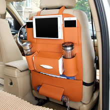 Elegant Car Seat Leather Storage Organizer Bag