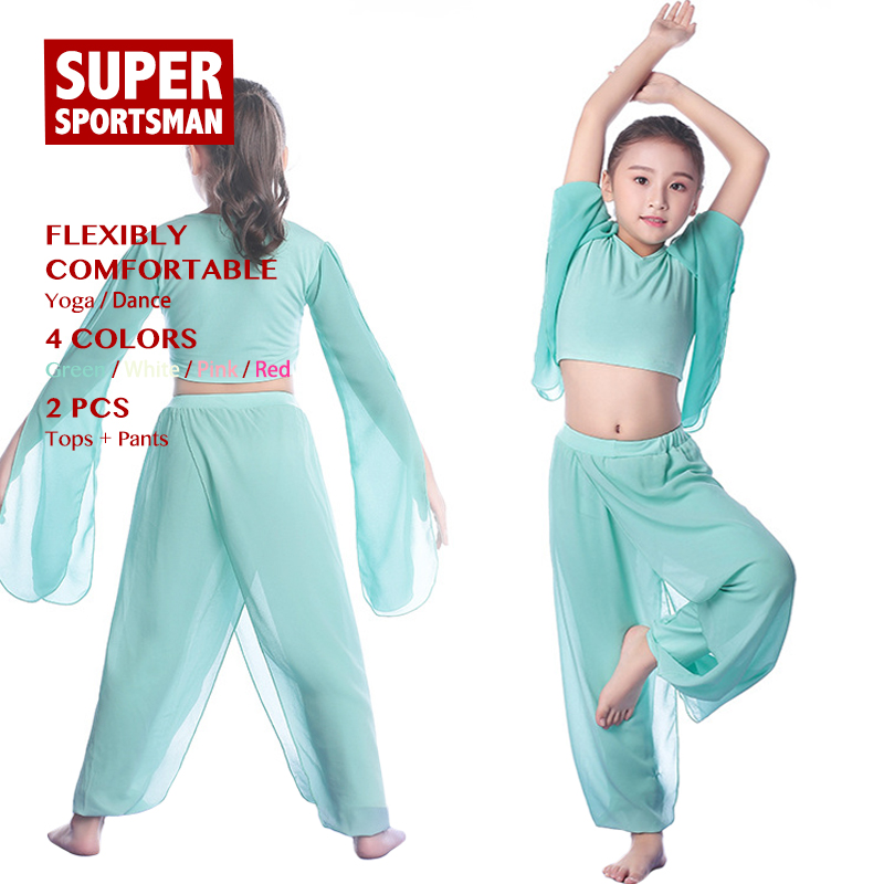 a9fdd7a5088f Children Yoga Clothing Kids Body Dance Costume Girls Gym Fitness ...
