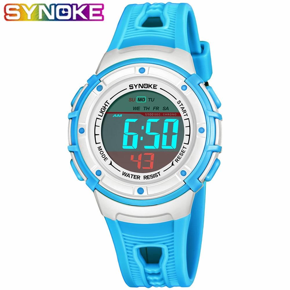 SYNOKE Children's Watches Wrist Digital Electronic Waterproof Students Kids Wristwatches Sport Watch For Boys Girls Gift