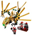 Ninjago el golden dragon 9793 building block sets 258 unids legoland educational diy construcción ladrillos juguetes para los niños