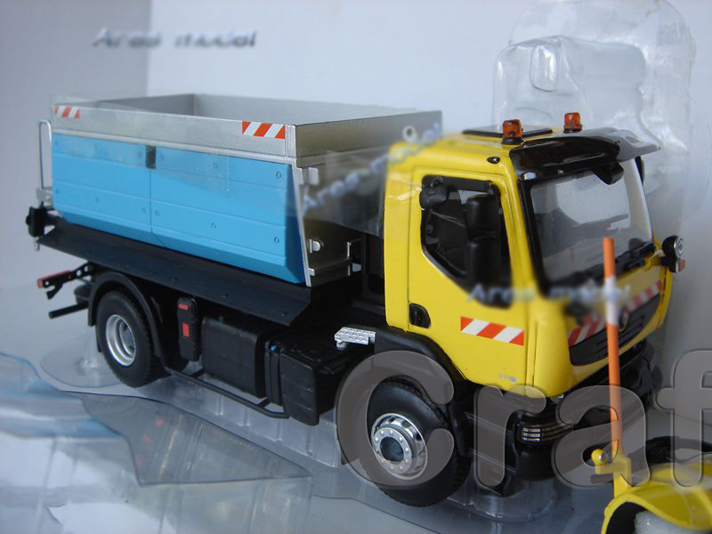 1:43 Norev Renault Kerax Snowplough Snowplow Engineering Fashions Constructing Car Basic toys Miniature Craft