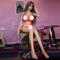 158 cm Realistische Silikongeschlechtspuppe Skelett Ass Vagina Liebespuppe Erwachsene Große Brust Sex Robot Dolls erwachsene puppe für mann