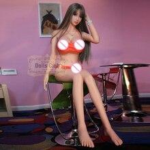 158 см Реалистичная Силиконовая секс кукла скелет анальный, вагинальный любовь кукла взрослый большой груди Секс-Робот куклы взрослые куклы для мужчин