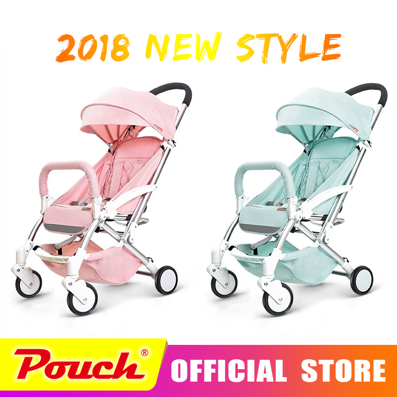 2018 New Style baby strollers ultra-lightweight folding can sit can lie high landscape umbrella baby trolley summer and winter eu ru no tax baby strollers lightweight folding umbrella stroller can sit can lie ultra light portable baby strollers for dolls