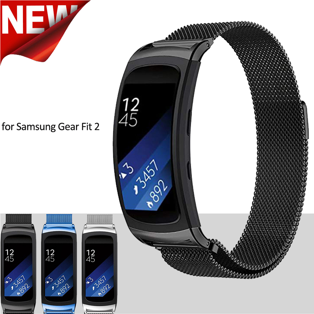 Milanese Magnetic Strap for Samsung Galaxy Gear Fit 2 Pro Band Stainless Steel Bracelet for Samsung Gear Fit 2 SM-R360 Watchband картаев павел samsung gear fit 2 apple снизит цены заряд смартфона влияет на щедрость