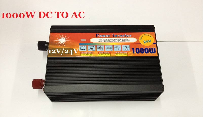 DC12V or DC24V input to AC 220v/230v output Power Inverter 1000W Modified Sine Wave inverter inversor solar power on grid tie mini 300w inverter with mppt funciton dc 10 8 30v input to ac output no extra shipping fee
