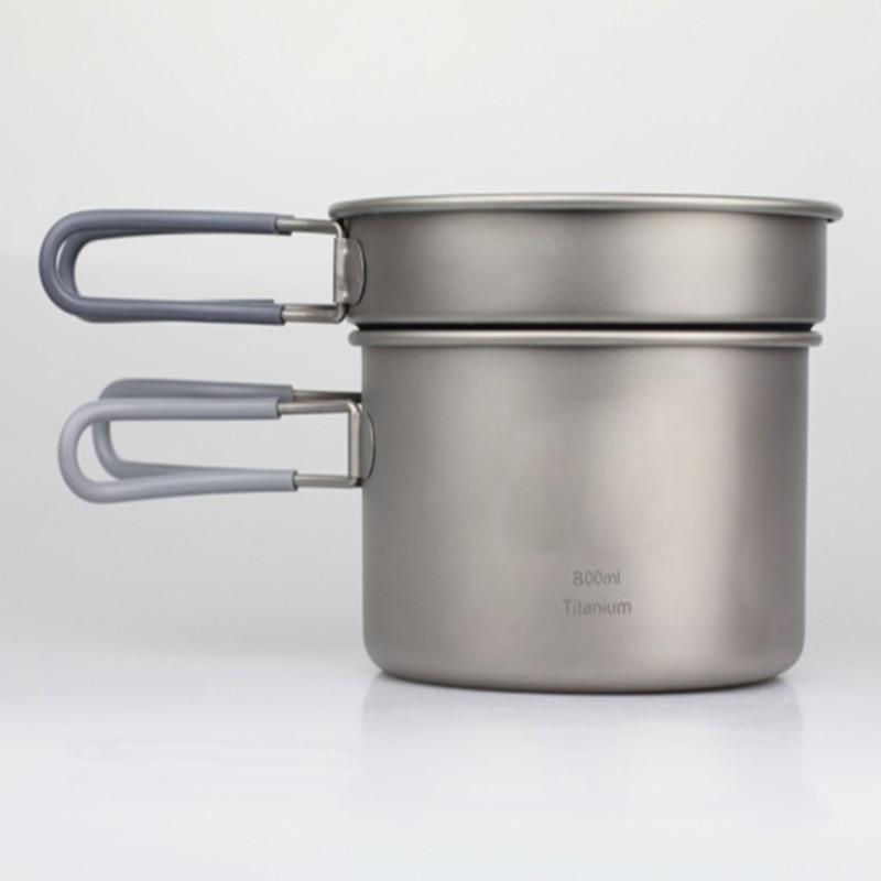 Keith Camping Cooking Set Titanium Cookware 0.4L+0.8L Pot + Frying Pan Set Outdoor Camping Picnic Cutlery Set 168g Ti6012 original projector lamp bulb sp lamp lp2e for lp210 lp280 lp290 lp290e lp295 rp10s rp10x