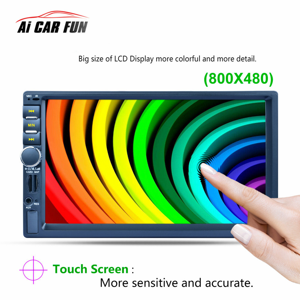 2DIN HD Touch screen 7156G 7 inch Car Media Payer Bluetooth GPS Navigation Fast Charge Car Stereo Radio Video player Rear camera 2017 7023d double 2din car radio 7 bluetooth hd card reader radio fast charge car stereo audio mp5 player without rear camera