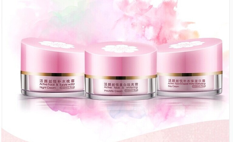 Only original~YiQi Beauty Whitening day cream+night cream+pearl cream Effective In 7 Days new packing yanko cream set original new packing day cream night cream cleanser
