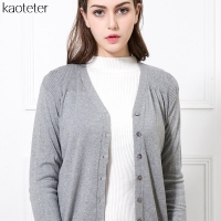 85% Silk 15% Wool Cashmere Women's Sweaters Women Long-sleeved Warm Sweater Female Knitting Button Tee Shirt Femme Tops Shirts