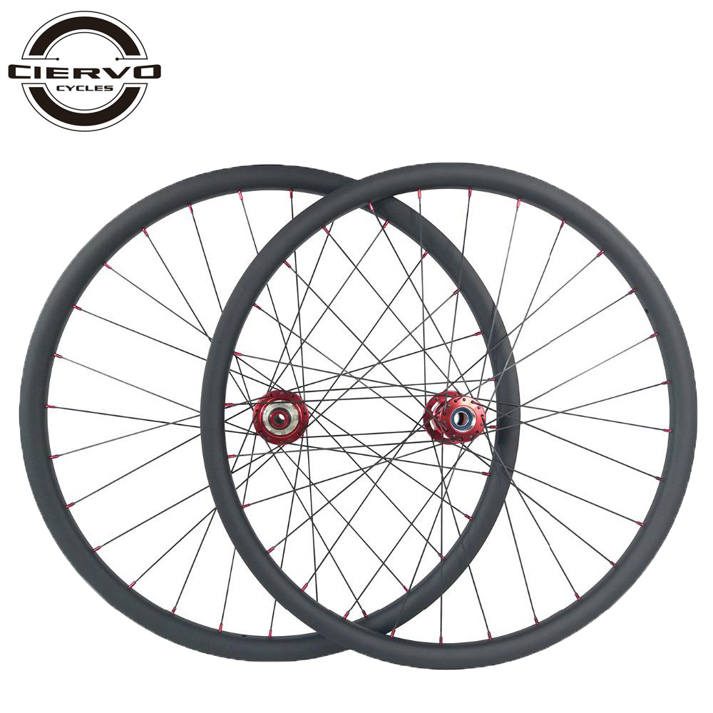 1310g 29er MTB XC 22mm x 30mm Asymmetric Lefty 2.0 Carbon Wheels Tubeless Straight Pull Left Hand 2 Wheelset 6mm offset 24H 28H