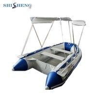 Алюминиевый пол надувной ПВХ материал Рыбацкая лодка с палатками