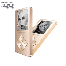Luxury IQQ X08 mp3 lossless HiFi 8GB MP3 Music player Bulid in Speaker High quality all alloy MP3 E-book FM radio voice recorder