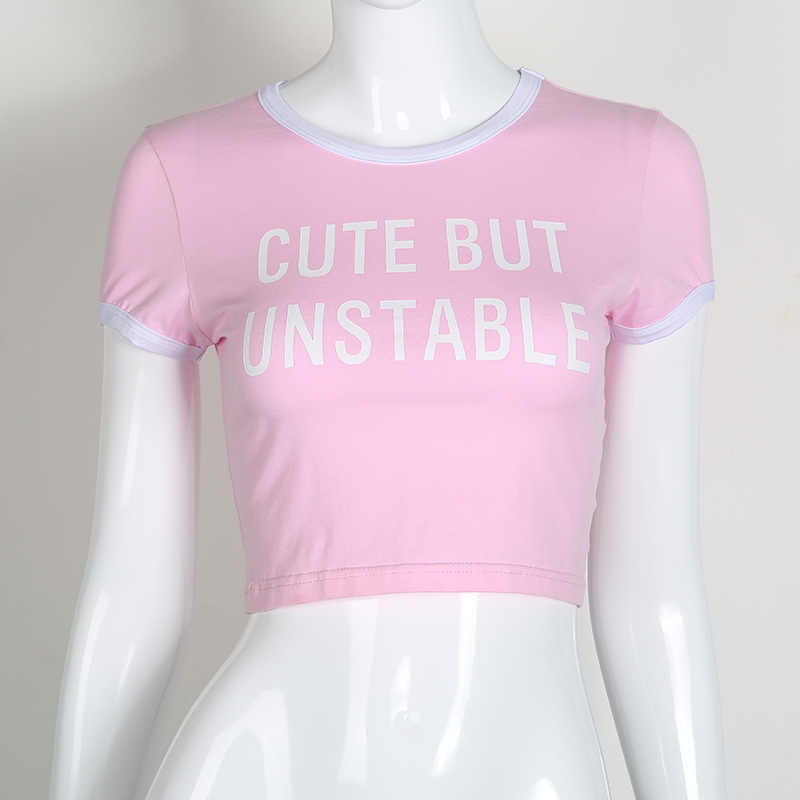 e6a04b1bc72 ... Cute Pink Letter Hot Women 2018 Summer Cropped Feminino Tank Top Haut  Femme Casual Blusa Bralet ...