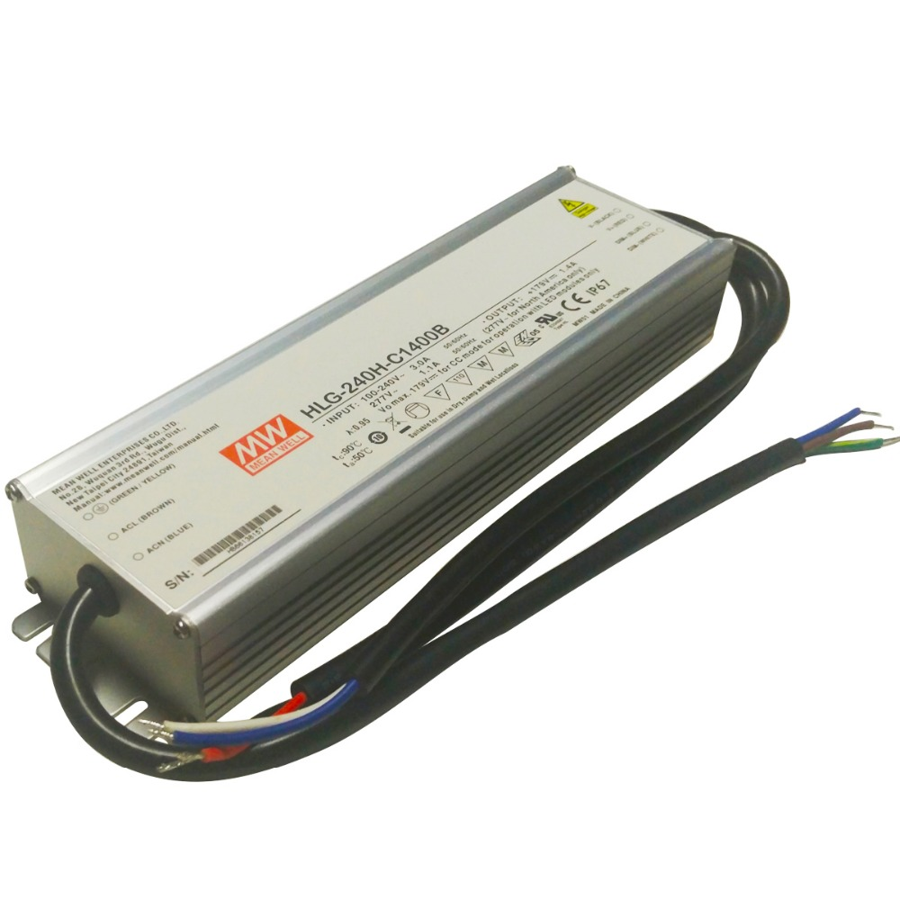 Original MEAN WELL 320W Single Output IP67 Constant Current LED Driver Switching Power Supply With PFC HLG-320H-C genuine mean well hlg 320h 36b 36v 8 9a hlg 320h 36v 320 4w single output led driver power supply b type