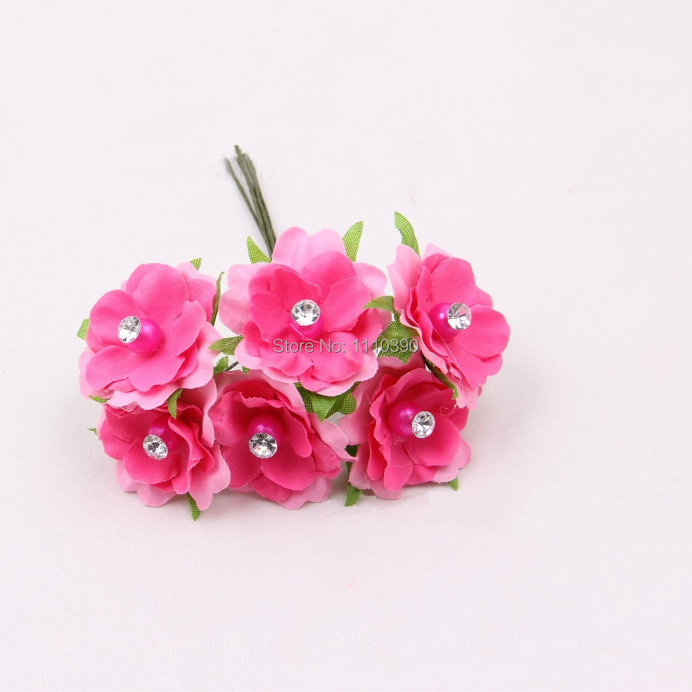 3cm Artificial Flowers Bouquets With Crystalsreal Touch Flowers