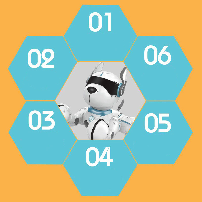 2,4G Control remoto inalámbrico inteligente Robot perro niños juguete inteligente parlante Robot perro juguete electrónico mascota cumpleaños regalo